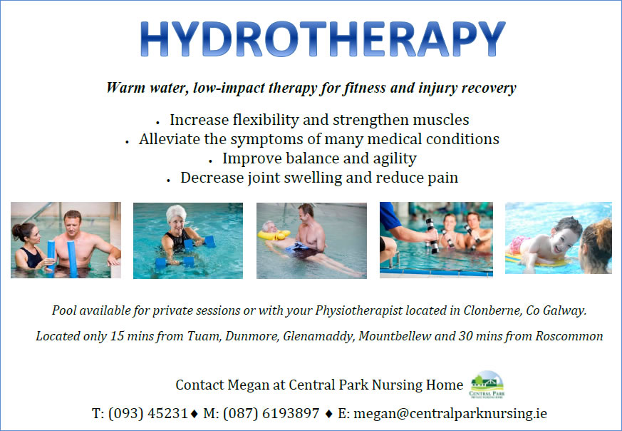 hydrotherapy pool for hire galway